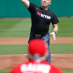 March 1, 2011; Clearwater, FL, USA; Actor Danny Bonaduce throws out the first pitch before a spring training exhibition game between the Detroit Tigers and the Philadelphia Phillies at Bright House Networks Field  Mandatory Credit: Derick E. Hingle