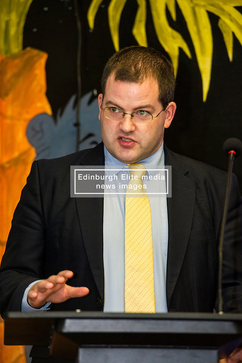 Pictured: Mark McDonald, MSP, Minister for Childcare and Early Years<br /> A new booklet was created by a group of prisoners after a Meet the Police event revealed many prisoners' children thought the police had taken their parent from them. The leaflet was launched by Mark McDonald, MSP, Minister for Childcare and Early Years at Saughton Prison, Edinburgh. The minister was joined by Scottish Prison Service chief executive Colin McConnell, PC  Tracey Gunn, Prison Link Officer Police Scotland, Nicola Ceesay, HMP Edinburgh Visitor Centre  Richard Thomas, Superintendent Police Scotland and other senior police officers<br /> <br /> <br /> Ger Harley | EEm 22 August 2016