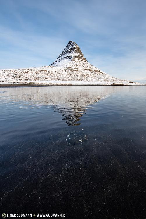 Kirkjufell mountain in West Iceland. Taken in the middle of March.