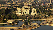An aerial photograph over Baghdad, Iraq, Nov. 6, 2003. (Photo by Stacy L. Pearsall)