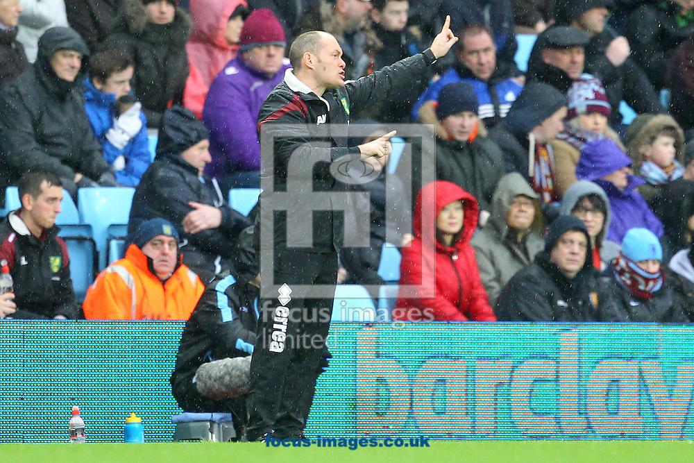 Norwich Manager Alex Neil during the Barclays Premier League match at Villa Park, Birmingham<br /> Picture by Paul Chesterton/Focus Images Ltd +44 7904 640267<br /> 06/02/2016