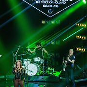 NLD/Hilversum/20160109 - 4de live uitzending The Voice of Holland 2015, optreden Melissa Jansen