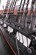 "USS Constitution (""Old Ironsides"") on the Freedom Trail, Charlestown Navy Yard, Boston, Massachusetts"