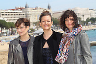 "CANNES, FRANCE - APRIL 09:  Cecilia Hornus, Anne Girouard and Helene Seuzaret attend ""Marseille' Photocall  on April 9, 2013 in Cannes, France.  (Photo by Tony Barson/Getty Images)"