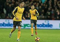 Football - 2016 / 2017 Premier League - West Ham United vs. Arsenal <br /> <br /> Granit Xhaka of Arsenal at The London Stadium.<br /> <br /> COLORSPORT/DANIEL BEARHAM