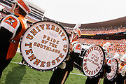 KNOXVILLE, TN - SEPTEMBER 12: Detail view of large drums as the Tennessee Volunteers marching band prepares to take the field before the game against the UCLA Bruins at Neyland Stadium on September 12, 2009 in Knoxville, Tennessee. The Bruins won 19-15. (Photo by Joe Robbins) *** Local Caption ***