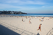 Bondi Beach reached temperatures of 27 degrees today, extremely hot weather for Sydney's autumn. Tourists and locals seen taking advantage of this amazing weather.