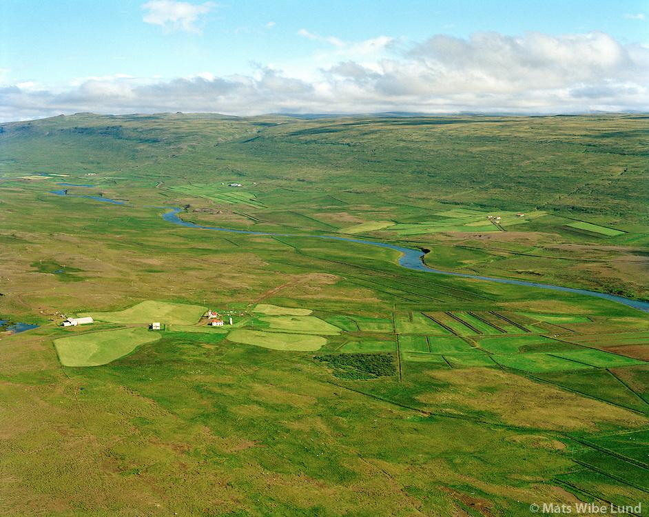 Hjarðarholt séð til austurs, Dalabyggð áður Laxárdalshreppur / Hjardarholt viewing east, Dalabyggd former Laxardalshreppur.