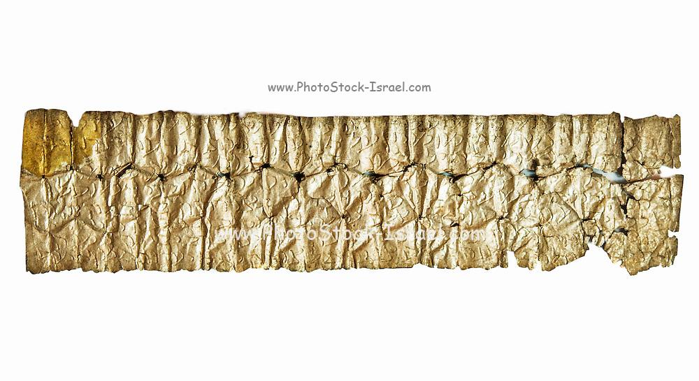 An Aramaic Silver Magic amulet 4th-7th Century CE 11.5 x 2.6 cm