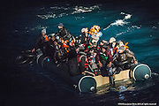 "9th of Jan 2016<br /> <br /> Dramatic rescues as refugee deaths in Aegean reach record high<br /> <br /> MOAS team make a sighting of a large rubber dinghy with 48 people onboard ( 8 males, 16 females and 14 children). The boat is in distress in the heavy swell. Three men are then spotted in sea by the MOAS searchlight. The men looking exhausted are encouraged to swim and grasp hold of the Jacobs ladder hanging on the side of the MOAS Rescue ship, Responder. With rescues swimmers at the ready, the men are pulled to safety. The men had fallen from the dinghy and could not climb back due to the high seas and their boat being already so overcrowded. Their rubber boat with their family members aboard was then safely brought alongside the Responder and all remaining 45 people, mainly Syrians were brought on deck, exhausted<br /> <br /> ATHAGONISI - Search and rescue charity Migrant Offshore Aid Station (MOAS) has assisted hundreds of refugees from hostile seas between Turkey and Greece since it began operating in the region just before Christmas.<br />  <br /> The MOAS crew has witnessed shocking scenes of life and death, having led complex deep water and nearshore rescues over the past four weeks. The human toll has been described as ""distressing"" and ""desperate"" by reporters who have been embedded with MOAS.<br />  <br /> MOAS, which saved almost 12,000 refugees from the Mediterranean Sea since 2014, expanded its operations to the Aegean Sea thanks to thousands of donations that reached the organisation after the horrific death of Alan Kurdi, a Syrian toddler who was photographed washed ashore on a Turkish beach last September.<br />  <br /> The charity is operating off the Greek island of Agathonisi from a 51-metre vessel equipped with two fast rescue launches named after Alan and his brother Galip, who also died in September's shipwreck.<br />  <br /> According to the International Organisation for Migration (IOM), 2016 appears to be a record year for both refugee arrivals and deaths at sea. In the first three weeks, fatalities have alread"