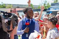 Sky Sports interview fans before kick off - Ryan Hiscott/JMP - 05/07/2018 - FOOTBALL - Ashton Gate - Bristol, England - Sweden v England, World Cup Quarter Final, World Cup Village at Ashton Gate