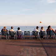 Nice, France, August 2013. Promenade des Anglais.