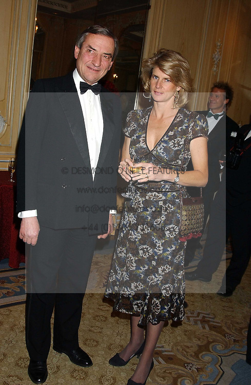 MR & MRS LUCA CUMANI at the Cartier Racing Awards held at the Four Seasons Hotel, Hamilton Place, London W1 on 16th November 2005.<br />