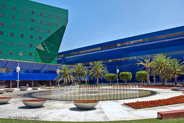 Pacific Design Center West Hollywood CA, Blue Whale, Green and Blue Buildings