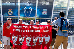 Liverpool fans begin to arrive at the Olympic Stadium in Kiev for the Champions League Final against Real Madrid - Mandatory by-line: Robbie Stephenson/JMP - 26/05/2018 - FOOTBALL - Olympic Stadium - Kiev,  - Real Madrid v Liverpool - UEFA Champions League Final
