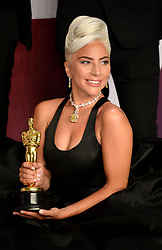"Lady Gaga, winner of the Best Original Song Award for ""Shallow"" in ""A Star Is Born"" at the 91st Annual Academy Awards"