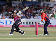 Jess Watkin is caught on the boundary during the international T20 Final between England Women and the White Ferns at the County Ground, Chelmsford. Photo: Graham Morris/www.photosport.nz 01/07/18