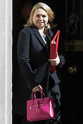 Downing Street, London, April 25th 2017. Secretary of State for Culture, Media and Sport Karen Bradley leaves the weekly cabinet meeting at 10 Downing Street in London. Credit: ©Paul Davey
