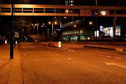 UK ENGLAND LONDON 17AUG04 - Deserted Ringroad A40 and the Euston Underpass in inner London in the early morning hours...jre/Photo by Jiri Rezac ..© Jiri Rezac 2004..Contact: +44 (0) 7050 110 417.Mobile: +44 (0) 7801 337 683.Office: +44 (0) 20 8968 9635..Email: jiri@jirirezac.com.Web: www.jirirezac.com..© All images Jiri Rezac 2004 - All rights reserved.