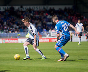 Dundee&rsquo;s Calvin Colquhoun and Inverness&rsquo; Iain Vigurs - Inverness Caledonian Thistle  v Dundee, Ladbrokes Scottish Premiership at Caledonian Stadium <br /> <br />  - &copy; David Young - www.davidyoungphoto.co.uk - email: davidyoungphoto@gmail.com