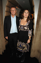 ALEXANDRA SHULMAN and DAVID JENKINS at a party to celebrate the launch of the Kova & T fashion label and to re-launch the Harvey Nichols Fifth Floor Bar, held at harvey Nichols, Knightsbridge, London on 22nd November 2007.<br />