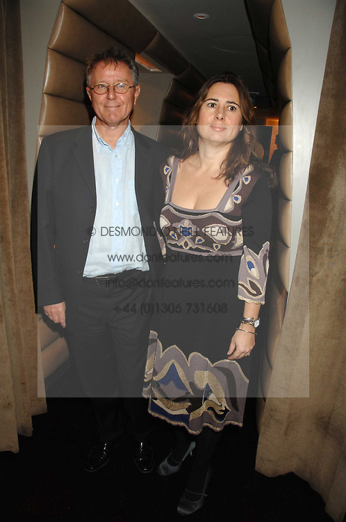 ALEXANDRA SHULMAN and DAVID JENKINS at a party to celebrate the launch of the Kova &amp; T fashion label and to re-launch the Harvey Nichols Fifth Floor Bar, held at harvey Nichols, Knightsbridge, London on 22nd November 2007.<br />