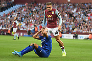 Aston Villa midfielder Jack Grealish (10) confronts Everton forward Richarlison (7) after his penalty claim was turned down during the Premier League match between Aston Villa and Everton at Villa Park, Birmingham, England on 23 August 2019.