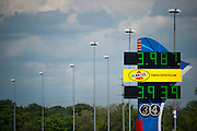 April 22-24, 2016: NHRA 4 Wide Nationals: NHRA timing board