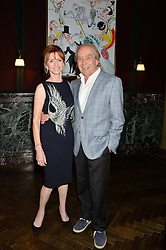 GERALD SCARFE and JANE ASHER at the Installation And Reveal Of Gerald Scarfe's Exclusive Artworks In Scarfes Bar at Rosewood Hotel, 252 High Holborn, London on 7th April 2014.