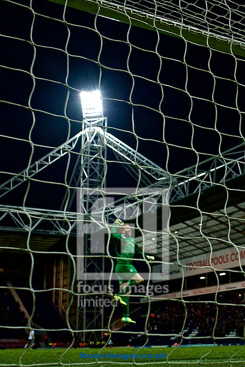 Preston North End goalkeeper Thorsten Stuckmann celebrates as Preston North End equalise to make it Preston North End 1 Milton Keynes Dons 1 during the Sky Bet League 1 match at Deepdale, Preston<br /> Picture by Ian Wadkins/Focus Images Ltd +44 7877 568959<br /> 13/12/2014