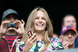 05.08.2012, Wimbledon, London, GBR, Olympia 2012, Tennis, Herren Finale, im Bild Andy Murrays Freundin Kim Sears // during Tennis Mens Final, at the 2012 Summer Olympics at Wimbledon, London, United Kingdom on 2012/08/05. EXPA Pictures © 2012, PhotoCredit: EXPA/ Freshfocus/ Valeriano Di Domenico..***** ATTENTION - for AUT, SLO, CRO, SRB, BIH only *****