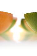 Grapefruits on white background - studio shot