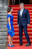26-4-2017 DEN HAAG - de Koning Willem-Alexander en kroon prinses Victoria uit zweden  is woensdagochtend 26 april aanwezig bij de viering van het 20-jarig jubileum van de inwerkingtreding van het Verdrag Chemische Wapens (CWC) en de oprichting van de Organisatie voor het Verbod van Chemische Wapens (OPCW). De ceremonie vindt plaats in de Ridderzaal in Den Haag. COPYRIGHT ROBIN UTRECHT<br /> <br /> 26-4-2017 THE HAGUE - King William Alexander and Crown Princess Victoria from Sweden will be present on the occasion of the celebration of the 20th anniversary of the entry into force of the Chemical Weapons Convention (CWC) on Wednesday morning 26 April and the establishment of the Organization For the Weapons of Chemical Weapons (OPCW). The ceremony takes place in the Ridderzaal in The Hague. COPYRIGHT ROBIN UTRECHT
