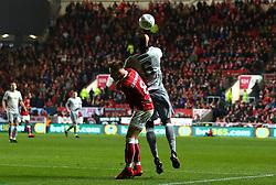 Josh Brownhill of Bristol City challenges Paul Pogba of Manchester United - Mandatory by-line: Robbie Stephenson/JMP - 20/12/2017 - FOOTBALL - Ashton Gate Stadium - Bristol, England - Bristol City v Manchester United - Carabao Cup Quarter Final