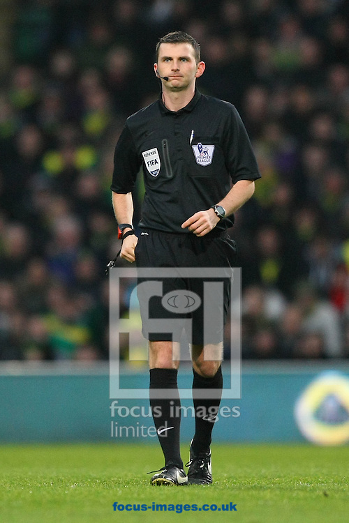 Picture by Paul Chesterton/Focus Images Ltd +44 7904 640267<br /> 15/12/2013<br /> Referee Michael Oliver during the Barclays Premier League match at Carrow Road, Norwich.