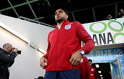 Kyle Walker of England arrives at The SRC Stozice Stadium ahead of the World Cup Qualifier against Slovenia - Mandatory by-line: Robbie Stephenson/JMP - 10/10/2016 - FOOTBALL - SRC Stozice - Ljubljana, England - England Press Conference