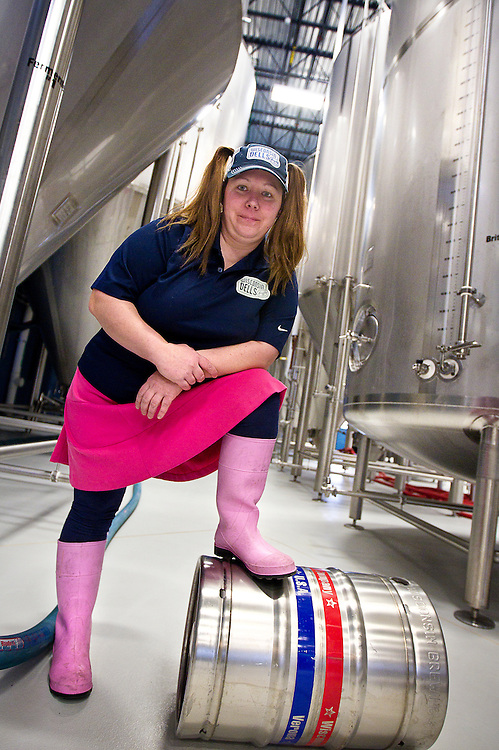 Wisconsin Dells Brewery brewmaster Jamie Bartsch poses for a portrait at Wisconsin Brewing Company during Women's Brew Day, Saturday, January 24, 2015.