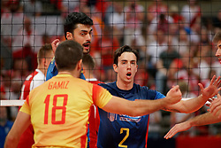 21-09-2019 NED: EC Volleyball 2019 Poland - Spain, Apeldoorn<br /> 1/8 final EC Volleyball / Angel Trinidad De Haro #2 of Spain