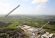 aerial photograph of  Heinz Factory  Wigan Lancashire England UK