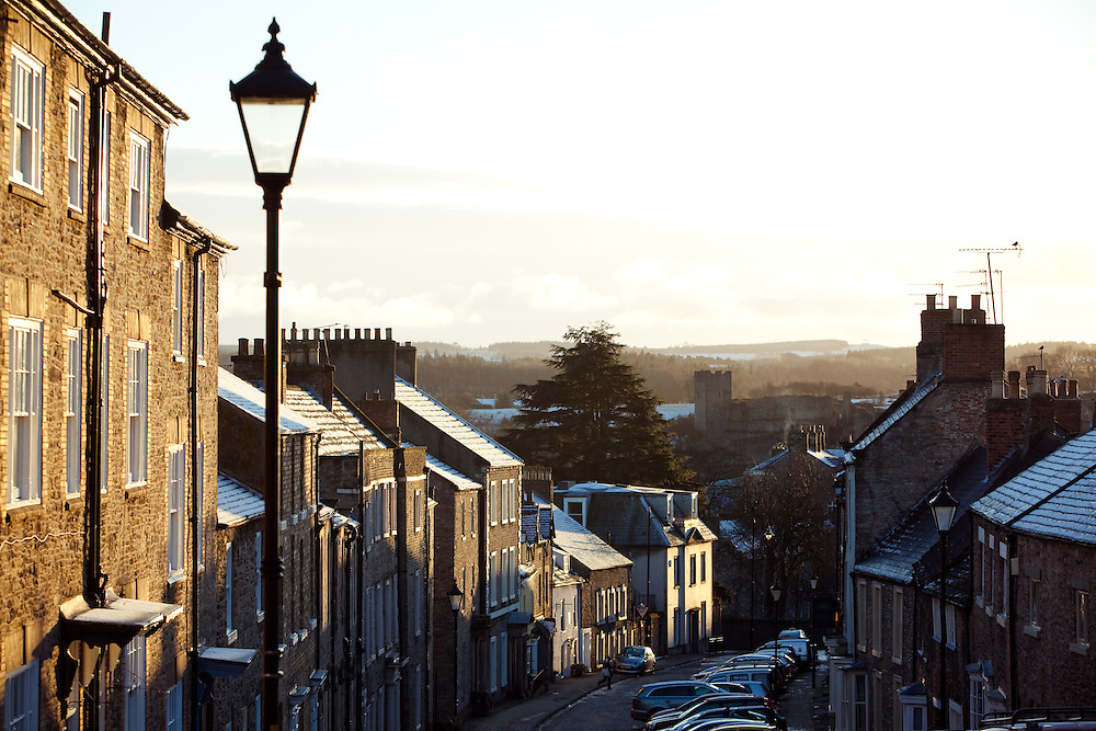 A view down Frenchgate Street, Richmond, Yorkshire.