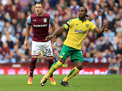 John Terry of Aston Villa shadows Cameron Jerome of Norwich City  - Mandatory by-line: Paul Roberts/JMP - 19/08/2017 - FOOTBALL - Villa Park - Birmingham, England - Aston Villa v Norwich City - Sky Bet Championship
