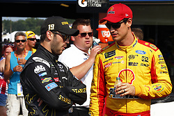 August 10, 2018 - Brooklyn, Michigan, United States of America - Joey Logano (22) hangs out on pit road prior to qualifying for the Consumers Energy 400 at Michigan International Speedway in Brooklyn, Michigan. (Credit Image: © Justin R. Noe Asp Inc/ASP via ZUMA Wire)