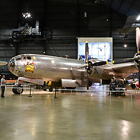 "Boeing B-29 named ""Bocscar"" at the USAF Museum. This is the Aircraft the dropped the second atom bomb, this one on Nagasaki, Japan. (USAF Mus.)"