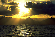 Sunset, Windward Oahu, Oahu, Hawaii, USA<br />