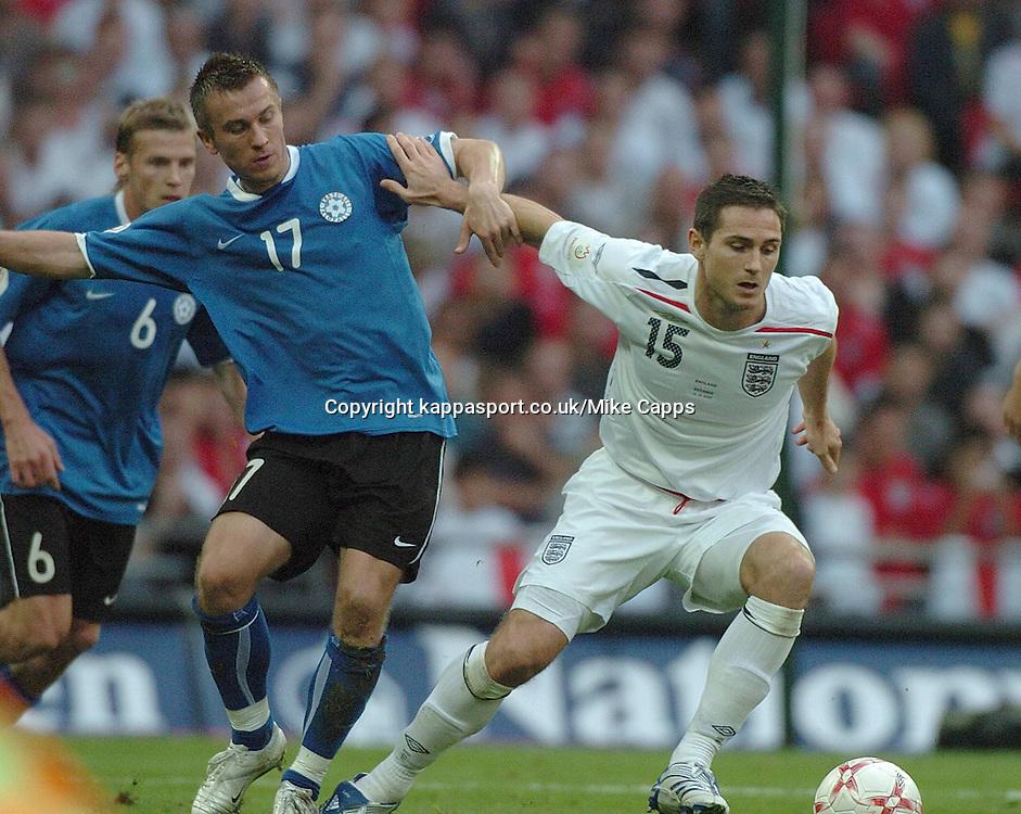 FRANK LAMPARD ENGLAND, ENAR JAAGER, ESTONIA, England - Estonia, UEFA European Championships 2008, Wembley, 13/10/2007