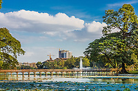 Kandawgyi Lake at Yangon (Rangoon) in Myanmar (Burma)