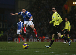 Portsmouth, England - Saturday, February 10, 2007: Portsmouth's Sean Davis against Manchester City during the Premiership match at Fratton Park. (Pic by Chris Ratcliffe/Propaganda)
