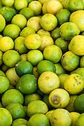 Mexican limes at Benito Juarez market in Oaxaca, Mexico.