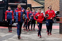 Niclas Eliasson of Bristol City and his teammates arrive at the City Ground for the Sky Bet Championship fixture against Nottingham Forest - Mandatory by-line: Robbie Stephenson/JMP - 19/01/2019 - FOOTBALL - The City Ground - Nottingham, England - Nottingham Forest v Bristol City - Sky Bet Championship