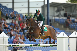 Broderick Greg Patrick, (IRL), Mhs Going Global<br /> Team Competition round 1 and Individual Competition round 1<br /> FEI European Championships - Aachen 2015<br /> © Hippo Foto - Stefan Lafrentz<br /> 19/08/15